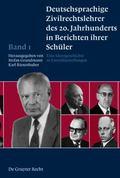 Twentieth Century German Civil Law Instructors Described by Their Students