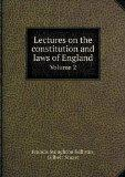 Lectures on the constitution and laws of England Volume 2