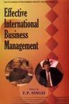 EFFECTIVE INTERNATIONAL BUSINESS MANAGEMENT