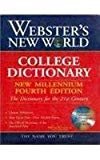 Websters New World College Dictionary, 4Th Millenium Edition,Paperback Ed. With Cd Containing