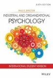 Industrial And Organizational Psychology : International Student Version, 6th Ed