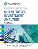 Quantitative Investment Analysis, 3Ed