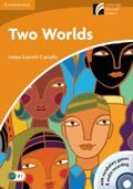 Two Worlds Level 4 Intermediate Book with CD-ROM and Audio CD Pack