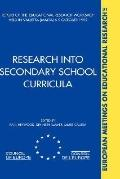 Research into Secondary School Curricula Report of the Educational Research Workshop Held in...