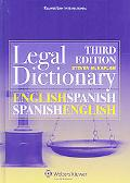 Kluwer Law International English/Spanish Dictionary 3rd Edition