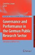Governance and Performance in the German Public Research Sector : Disciplinary Differences