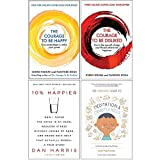 Courage to be Happy [Hardcover], Courage To Be Disliked, 10% Happier, Headspace Guide to Min...