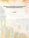 Kommentar zu Kants prolegomena Eine Einführung in die kritische Philosophie 1908 [Hardcover]