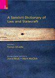 A Sanskrit Dictionary of Law and Statecraft