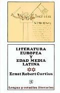 Literatura Europea Y Edad Media Latina - Tomo 1