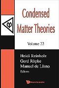 Condensed Matter Theories, Volume 22