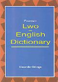 Lwo- English Dictionary