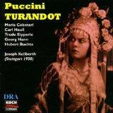 Turandot - Heinrich Holzlin, Georg Hann, Maria Cebotari (Stuttgart 1938) (Koch)