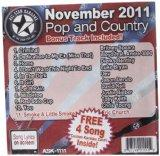 All Star Karaoke November 2011 Pop and Country Hits (ASK-1111)
