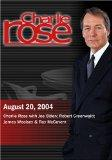 Charlie Rose with Joe Biden; Robert Greenwald; James Woolsey & Ray McGovern (August 20, 2004)