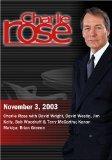 Charlie Rose with David Wright, David Westin, Jim Kelly, Bob Woodruff & Terry McCarthy; Kana...