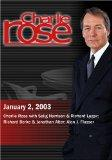 Charlie Rose with Selig Harrison & Richard Lugar; Richard Berke & Jonathan Alter; Alan J. Fl...