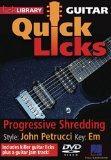 Progressive Shredding - Quick Licks - Style: John Petrucci; Key: Em
